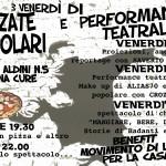 3 venerdì di pizzate popolari e performance teatrali in via Aldini